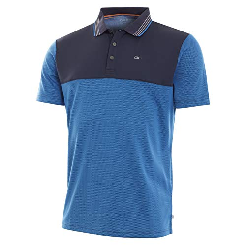 Calvin Klein Golf Men's 39TH Street Polo, Royal/Navy, ()