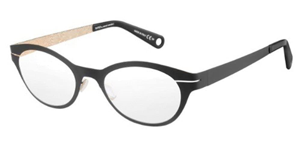4005d42554 Marcel Wanders Saw 5 Eyeglasses 0THP Black Gold 48 mm at Amazon Women s  Clothing store