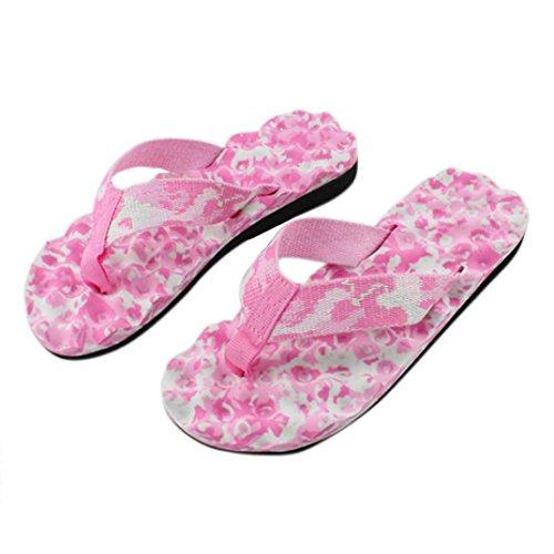 Ouneed® Damen Sandalen ,Sommer Summer Flip Flops Schuhe Sandalen Slipper indoor & outdoor Flip-Flops Zehentrenner Beach swimming pool (38, Blau)