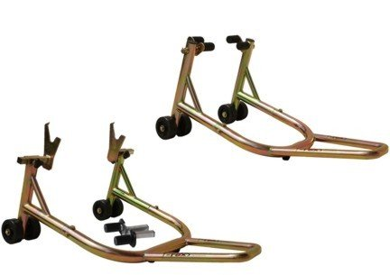 T-Rex Racing Universal Front & Rear Non-spooled V Motorcycle Stands - Gold - Non Spool Rear Stand