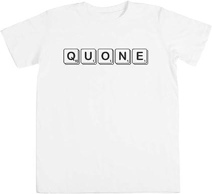 Scrabble Quone Unisexo Niño Niña Camiseta Blanco Los Tamaños Unisex Kids Boys Girlss T-Shirt White: Amazon.es: Ropa y accesorios