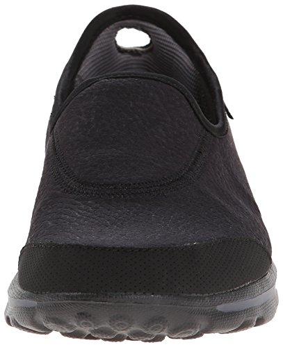 Skechers Damen GO Walk Aspire Sneakers Schwarz (Bbk)