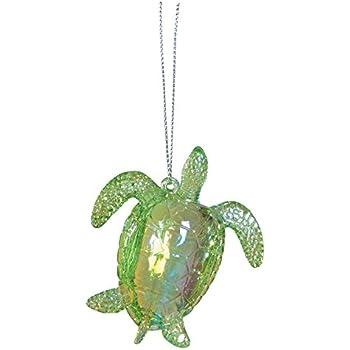 Amazon.com: C&F Acrylic Sea Turtle Hanging Ornament 3 inches: Home ...
