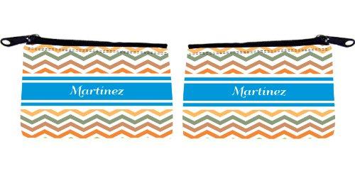 """Rikki KnightTM """"Martínez"""" Blue Chevron Name Messenger Bag - - Shoulder Bag - School Bag for School or Work - With Matching coin Purse"""