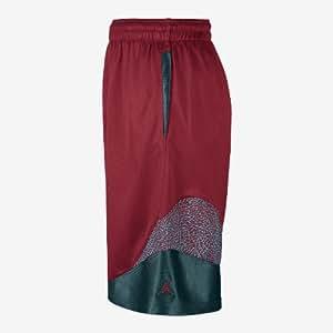 Jordan Nike Men's Son of Mars Ele Basketball Shorts-Red-XL