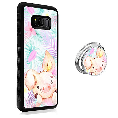 Case for Samsung Galaxy S8 Plus case Lovely Little Pig With Ring Holder Slim Soft and Hard Tire Shockproof Protective Phone Cover Case Slim Hybrid Shockproof Protective Case Anti-Scratch Cushion Bumpe
