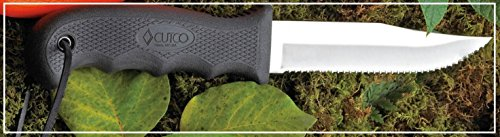 CUTCO Model 5719 Black Clip Point Knife with Double-D® serrated edge blade .................. Leather sheath and lanyard included. by Cutco