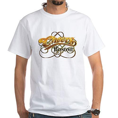 (CafePress Cheers, Boston White T Shirt 100% Cotton T-Shirt, White)