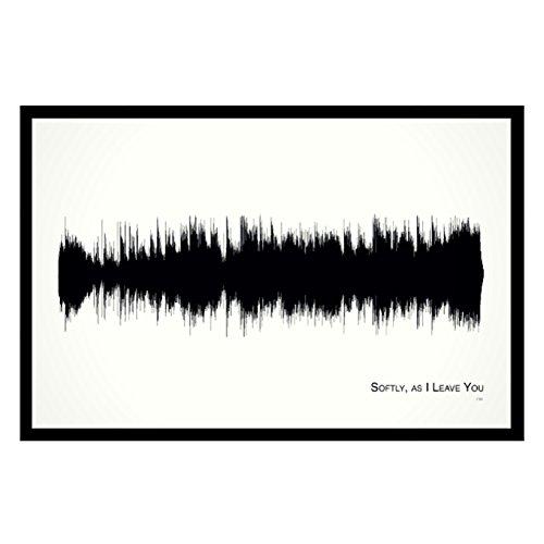 softly-as-i-leave-you-11x17-framed-soundwave-print