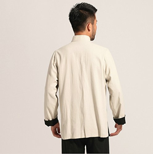 Cotton-flax Tang Suits Double-sided Wear Retro Jackets mens shirts Business Jackets Full Dress by Double-sided Wear Tang Suit (Image #3)