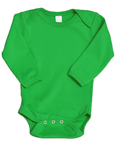Monag Unisex Baby Bodysuits (12-18M, Lime) -