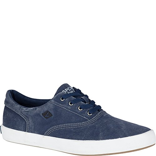 Sperry Top-Sider Men's Wahoo CVO Sneaker, Navy, 10 Medium US Canvas Mens Sneakers