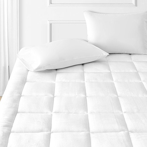 Comfy Bedding Ultrasoft Microplush Mattress Pad Topper (White, (Double Pillow Top)