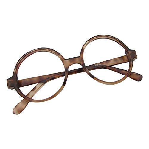 rondes Garçon avec boîtier Marron en Fille de Lunettes voiture à Geek forme Cadre lunettes Verres lentilles Nerd Eyewear transparentes hibote qExgxwRpd