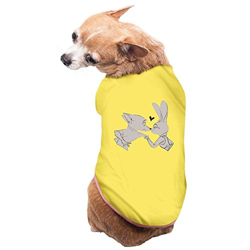 ZULA New Style Fox And Rabbit Kissing Doggie Tank Top Yellow Size - Bogo Style