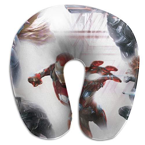 (HomeYdecor Captain America Civil War Soft Memory Foam U-Shaped Pillows Travel Outdoor Portable Pillow Neckrest Travel Folding Pillow)
