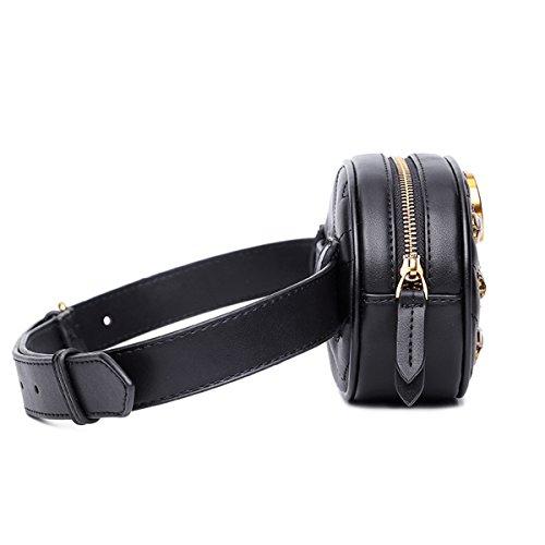 FXTKU 2018 Damen Geldbörse Mini Handy Tasche Stern mit dem gleichen Absatz samt Brustbeutel samt ovalen Taschen umhängetasche damen klein handtasche(Schwarz 1) Schwarz 1