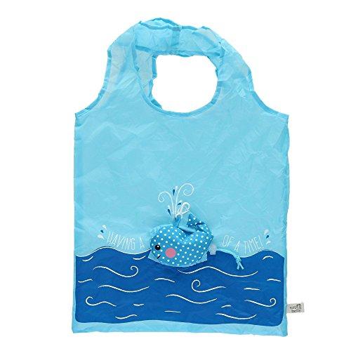 Sass & Belle Foldable Compact Reusable Shopping Bag Blue