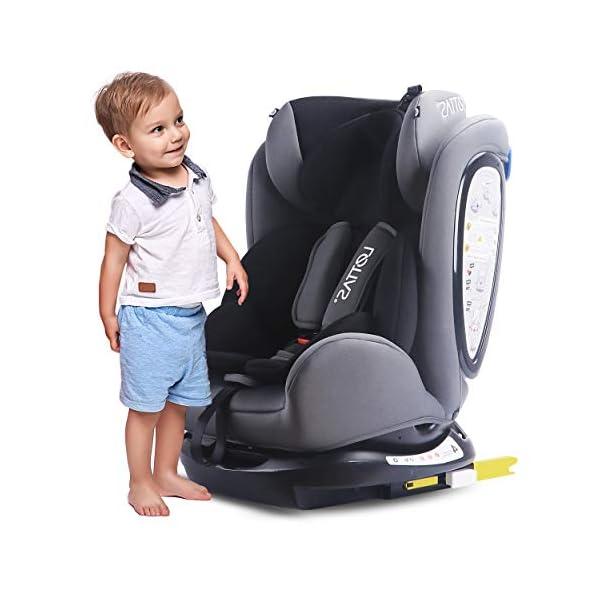 LETTAS Seggiolino auto gruppo 0+1/2/3 Fascia d'età: Bambini da 0 mesi a 12 anni - da 0 a 36 kg,reclinabile 4 posizioni… 6 spesavip