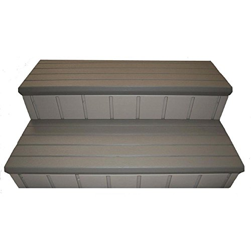QCA Spas LASS36G Two Toned Spa Step, 36-Inch, Gray by QCA Spas