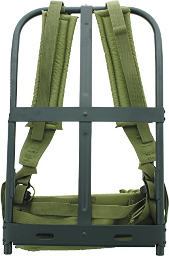 New Black Military Alice Pack Frame with Olive Drab Suspender Straps & LC-1 Kidney (Olive Drab Alice Pack)