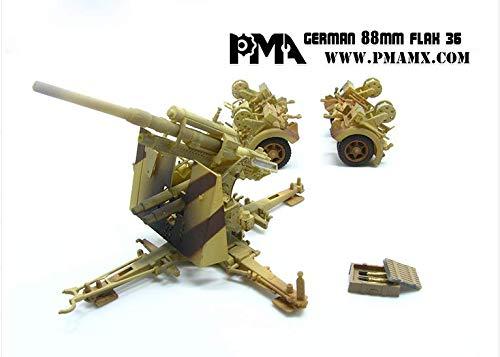 88mm Gun Flak - PMA German 88MM Flak 36 1/72 Finished Model Gun