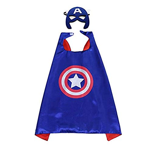 Superhero Capes and Masks Costumes Boys and Girls (Captain America) ()
