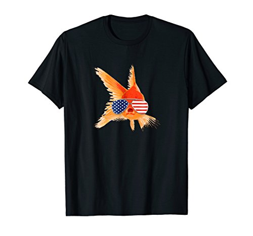 Funny Goldfish Shirt USA Sunglasses Koi Carp Fish (Koi Breeder)