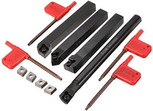 Qualitäts-CNC-Drehmaschine Werkzeug-Zubehör Lathe Index Bohrstange Drehwerkzeughalter mit 4pcs CCMT 09T3 Einsätze 4pcs 12mm SCLCR