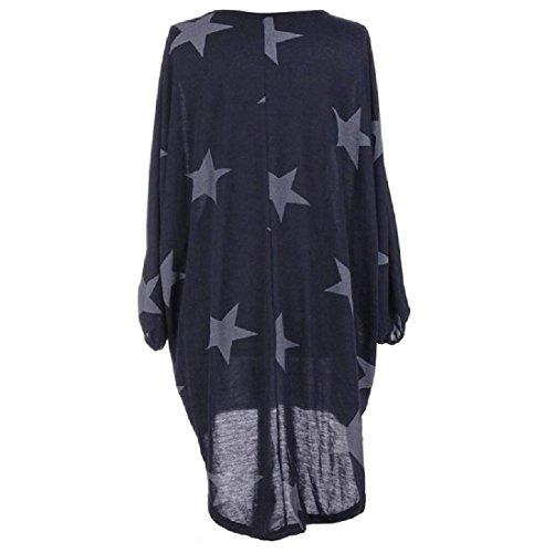 Femmes Confortables Solide Étoile Asymétrique Imprimé Ourlet Élégante Robe Crayon Bleu Foncé