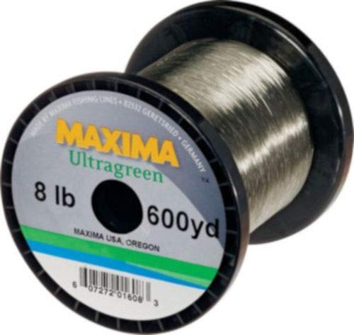 - Maxima Ultragreen Copolymer Monofilament 300-600 Yard Guide Spools - 8 Pound - 600 Yards