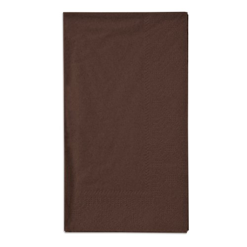 Hoffmaster 180554 Chocolate Brown 15'' x 17'' Paper Dinner Napkins 2-Ply - 125/Pack by Hoffmaster