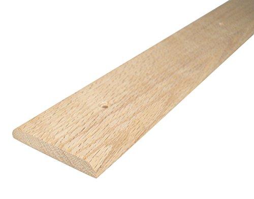 WJ Dennis & Company 355 Hardwood Flat Top Threshold, 3-Inch x 3/8-Inch x 36-Inch, Hardwood