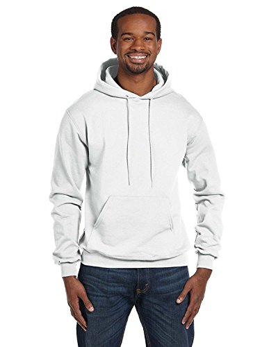 Champion Double Dry Action Fleece Pullover Hood, White, S