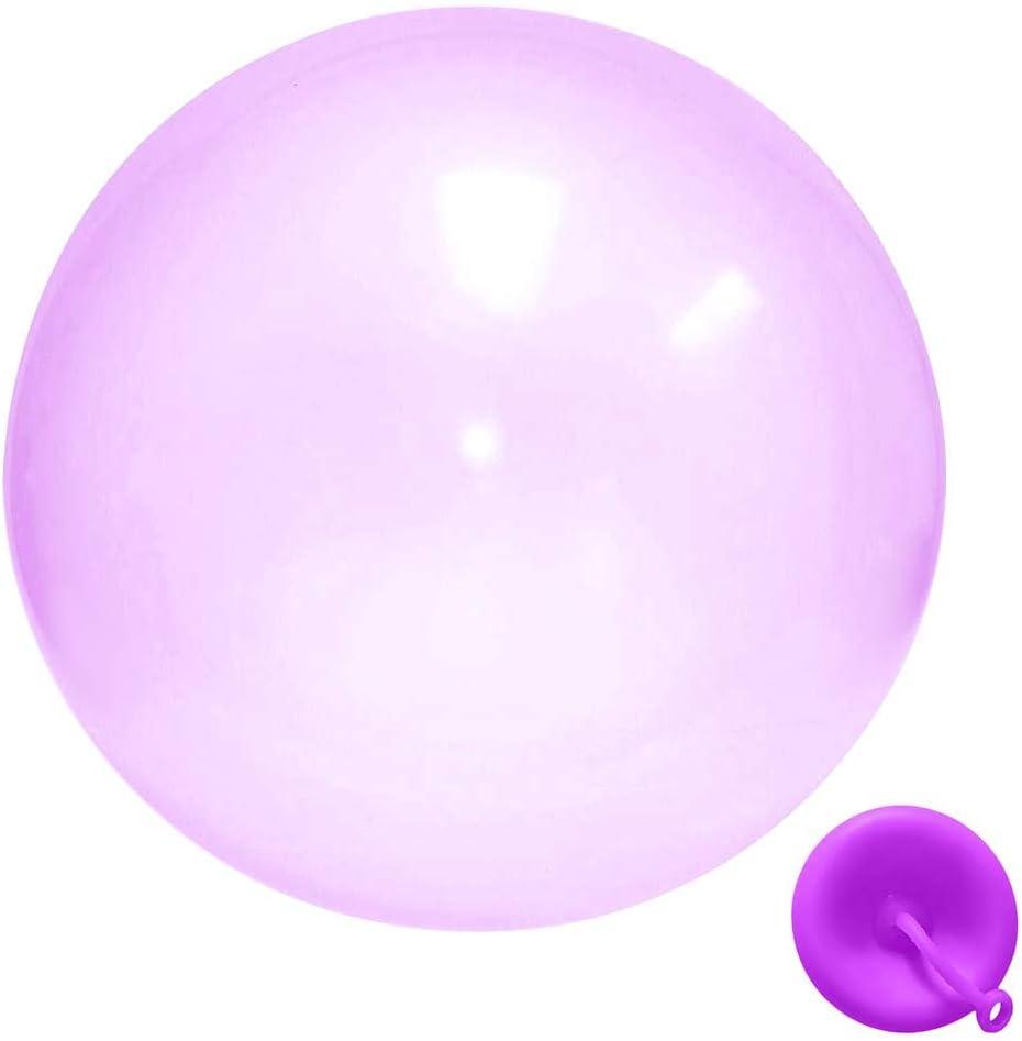 Bubble Ball Water Balloon Toy Gonflable Bubble Ball Big Amazing Bubble Balls Ballons en caoutchouc interactifs remplis deau F/ête en plein air pour Enfants Beach Garden Ball Soft Rubber Ball