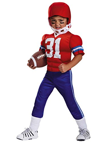 Toddler Boys Muscle Football Player Costume with Muscle Uniform & Helmet 2T -