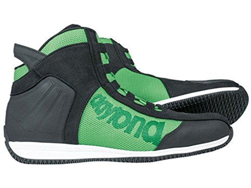 Daytona AC4WD motorcycle boots leather/textile–BLACK/GREEN