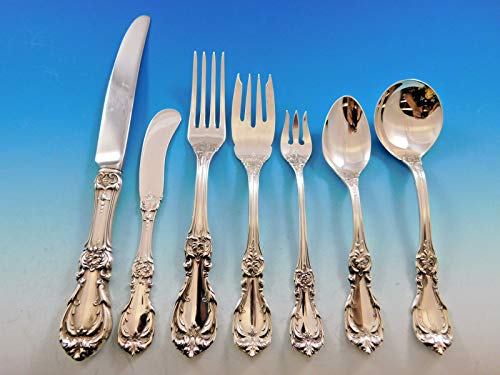 Burgundy by Reed & Barton Sterling Silver Flatware Set Service 58 Pieces ()