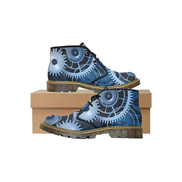 INTERESTPRINT CaseCastle Shoes Steampunk Men's Nubuck Chukka Boots 5