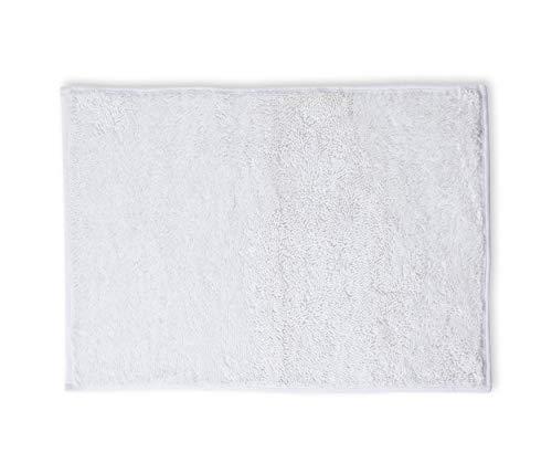 Tapete Banho Mini Chenille, Etna, 85% Poliéster e 15% Poliamida, Branco, 50 x 70 cm