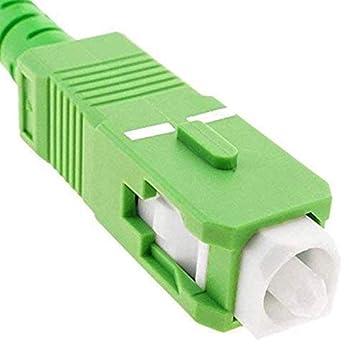 SC//APC-SC//APC Simplex Fiber Optic Cable for Router 9//125 OS2 FTTH Single Mode Hose Compatible with 99/% Operators Movistar Jazztel Vodafone Orange Amena Masmovil Yoigo 2 m lemon tree