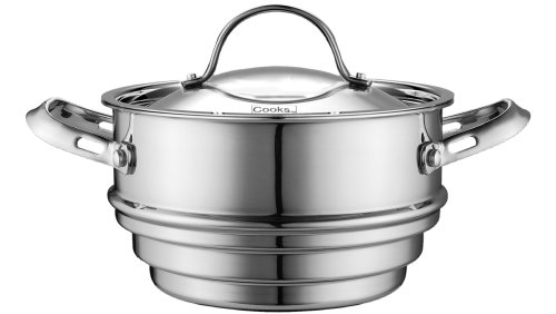 Cooks Standard Multi-Ply Clad Stainless Steel Universal Steamer Insert with Lid, Fits 6.25, 7, and 8-Inch (Stainless Steel Lid Insert)