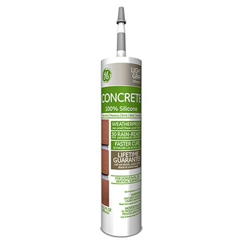 General Electric GE5020 Concrete and Masonry Silicone II Caulk, 10.1 Oz