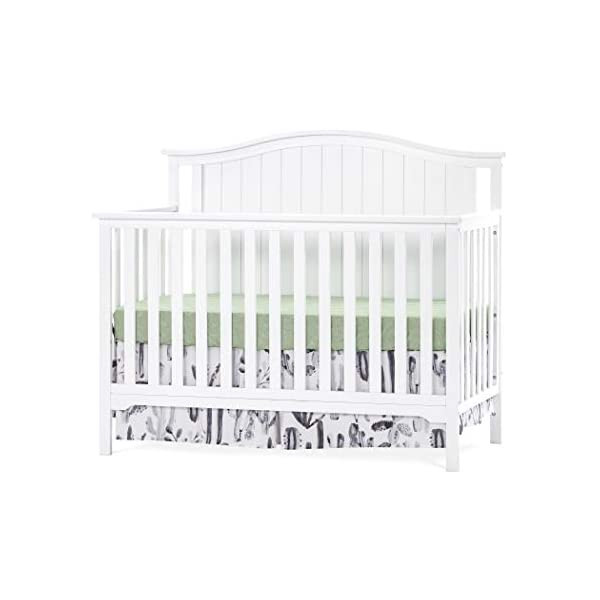 Forever Eclectic Hampton Arch-Top 4-in-1 Convertible Baby Crib, Matte White