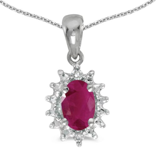 Ruby And Diamond Pendant with 18