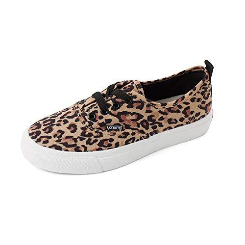 - Magone Womens Vintage Leopard Print Basic Athletic Sneaker Brown 8
