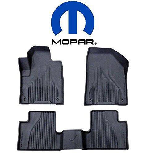 Jeep Cherokee (Not for Grand Cherokee) Black All Weather Rubber Floor Liner Slush Mat Set Mopar OEM