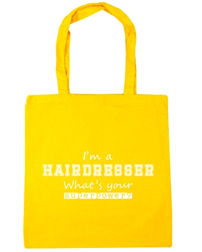 Tote I'm Gym Shopping Your Hairdresser Bag a HippoWarehouse litres 10 Superpower x38cm Yellow Beach What's 42cm nHRqggAY