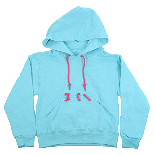 Largemouth Girl's Vanellope Costume Hoodie, Blue (Medium) -