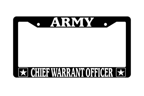 Army Chief Warrant Officer Black Plastic License Plate Frame ()